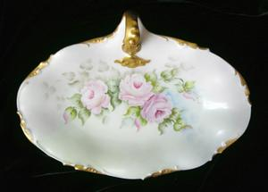 Limoges Trays~ Finial Handled