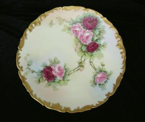 Limoges Plates Roses
